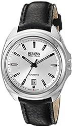 Bulova Accu Swiss Men's 63B184 Mechanical Hand Wind Black  Strap Watch