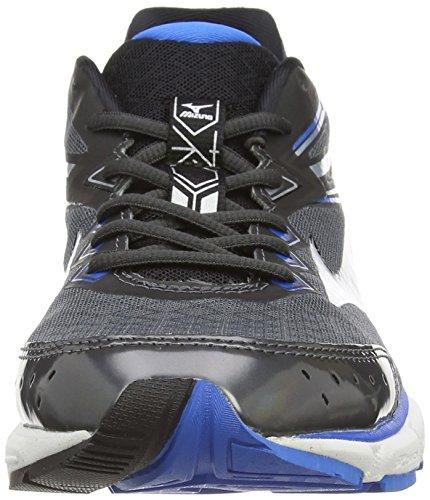2 de Entrainement Wave Shadow Mizuno Connect Dark Silver Homme Chaussures Running Gris En1TqS