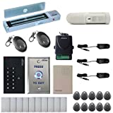 Vsionis FPC-5340 One Door Access Control Outswinging Door 600lbs Maglock with VIS-3002 Indoor use only Keypad/Reader Standalone no software em card compatible 500 users Wireless Receiver with PIR Kit