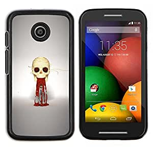 Caucho caso de Shell duro de la cubierta de accesorios de protección BY RAYDREAMMM - Motorola Moto E - Puke cráneo