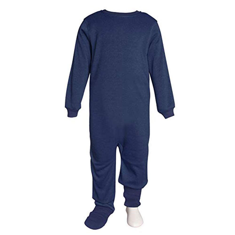 Snugabye Little Boys' Fleece Sleeper Pajama Neutral Bodysuit, Zip Back Convertible Toddler Footed PJ's Zip Back Convertible Toddler Footed PJ's