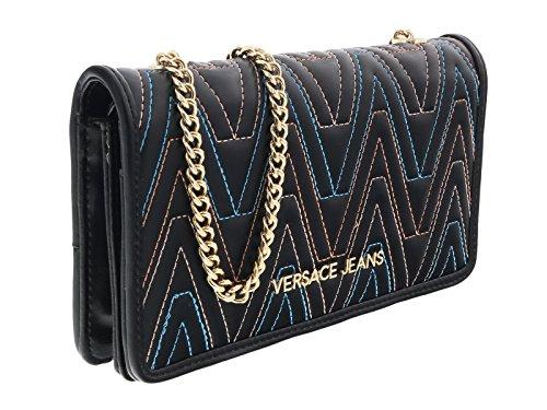 Versace EE3VRBPY4 Black/Multicolor Wallet on Chain for Womens