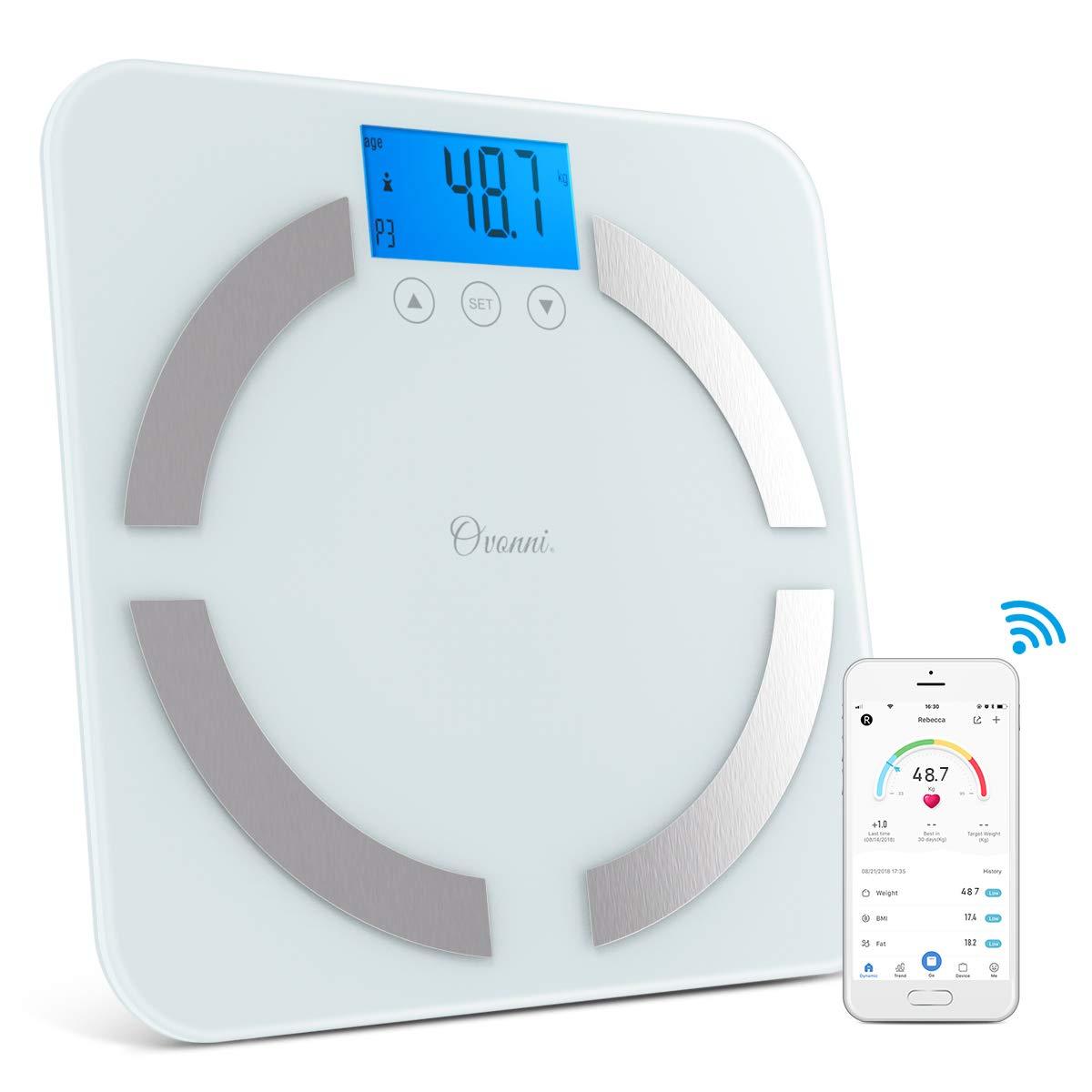Bascula Baño Digital Eléctrica para Pesar Personas, Análisis Profesional de Masa Corporal, Bascula Inteligente con Bluetooth y App Smart: Amazon.es: Salud y ...
