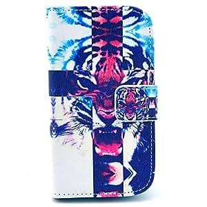 GDW Teléfono Móvil Samsung - Carcasas de Cuerpo Completo/Fundas con Soporte - Gráfico/Dibujos Animados/Diseño Especial - para Samsung S3 Mini I8190N (