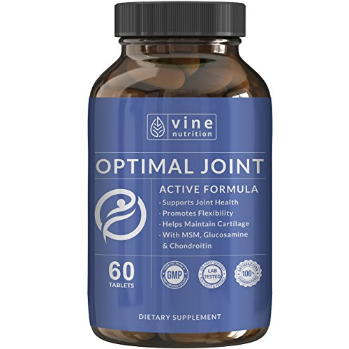 Glucosamine Chondroitin MSM Joint Support - Advanced Pain Relief Supplement - Triple Strength Natural Joint Supplement - for Men & Women - Reduces Aches, Soreness & Inflammation -Vine Nutrition