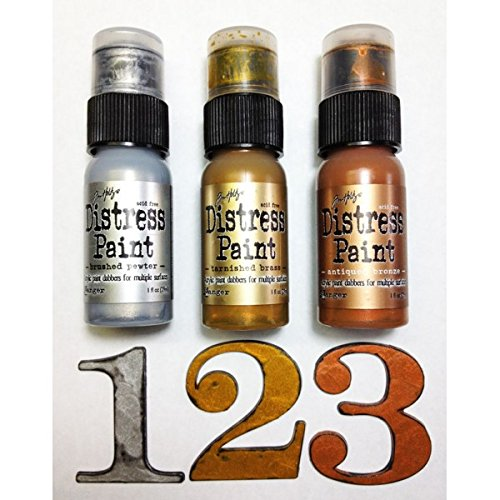 (Ship from USA) Tim Holtz Distress paint set complete lot 52 bottles Ranger includes Metallics