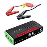 Udyr 600A Peak Compact Portable Car Jump Starter Emergency Car Battery Booster Pack 4USB Power Bank with Built-in LED Flashlight