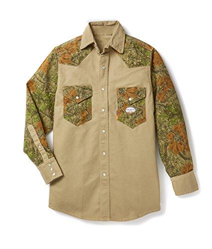 Rasco FR Cajun Camo Khaki Two Tone Work Shirt (Two Tone Khaki)