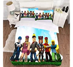 HUANIU Juego De Ropa De Cama con Roblox 3D Mate Impreso De