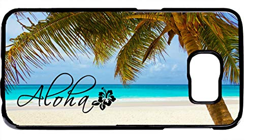 Cell World LLC - Aloha Hawaii Hawaiian Beach Hard Plastic Black Case Cover for Samsung Galaxy S10e - 5.8