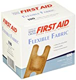 American White Cross 1602033 Fabric Adhesive Strips, Sterile, Lightweight, 1-1/2'' x 3'' Knuckle, 100/Box, 12 Box/Case (Pack of 1200)