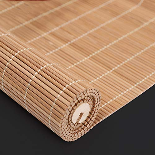 Deevin Bamboo Roll Up Shades-Window Roller Blinds, Retro Natural Curtains, Partition Shutters, for Indoor/Outdoor, Customizable