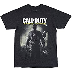 Call of Duty Infinite Warfare Men's T-Shirt in Heather Charcoal. S-XL.