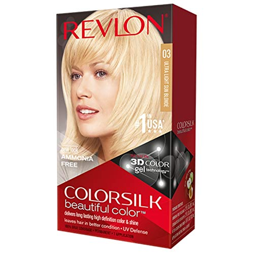 Revlon ColorSilk Hair Color, 03 Ultra Light Sun Blonde 1 ea (Pack of 6)