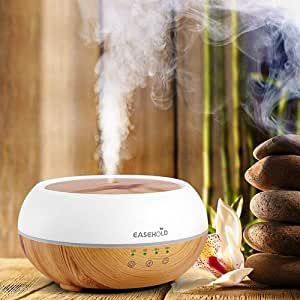EaseHold Clearance 300ML Wood Grain Aroma Essential Oil Diffuser Cool Mist Ultrasonic Humidifier Air Purify 7 Colors Changing