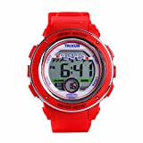 TAIXUN Kids Cool Outdoor Sports LED Digital Water Resistant Electronic Wrist Dress Resin Band Watch