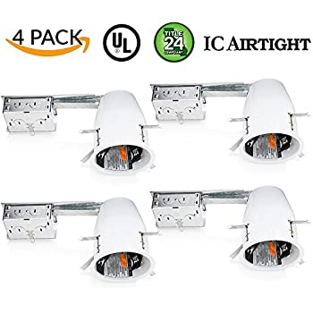 Sunco lighting 4 pack 4 inch remodel led can air tight ic sunco lighting 4 pack 4 inch remodel led can air tight ic housing led aloadofball Images