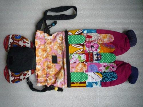 Ariyas Thaishop, Borsa a tracolla donna Multicolore Multicolore Normal