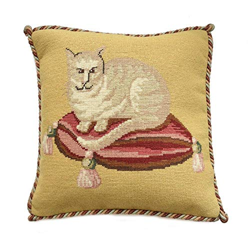 The Cream Cat Needlepoint Kit Elizabeth Bradley