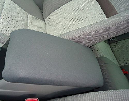 Car Console Covers Plus Fits Ford Edge 2011-2014 Neoprene Center Armrest Cover for Center Console Lid Made in USA Gray