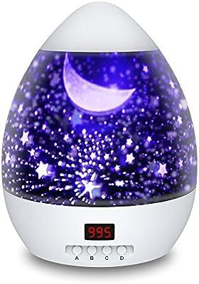 Lámparas Infantiles Proyector Estrella 360 Grados de Rotación con ...
