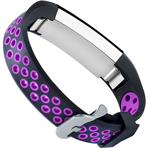 For Fitbit Alta HR and Alta Bands, Maledan Replacement Accessories Wristbands for Fitbit Alta and Alta HR, Large Small 2 Styles