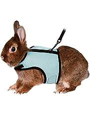 Vinnykud Verstelbare huisdier konijnen harnas elastische lood zachte harnas set voor kleine dieren konijnhamsters katten kleine dieren outdoor wandelen vest harnas met lood