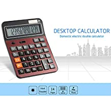 Professional Standard Desktop Electronic Calculator with 14-Digit Large Display, Solar and AAA Battery(Not Include) Dual Power for Office/Business/Home Use