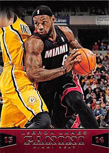 Lebron James basketball card (Miami Heat NBA Champion MVP) 2014 Panini #114 by Autograph Warehouse