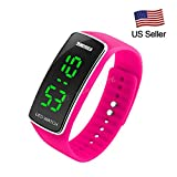 SKMEI Fashion Design Ultra Thin Men Women Sports Watches Silicone Strap LED Digital Unisex Jogging Runing Bracelet Wrist Watch