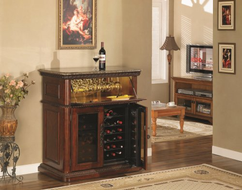 Amazon.com: Rutherford Wine Cabinet in Vintage Cherry DC387C233 ...