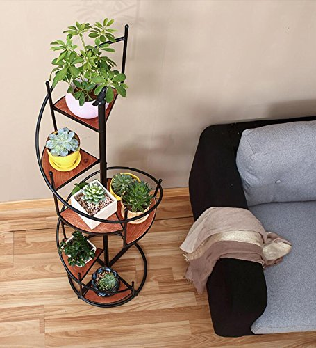 European-american style iron retro flower/[multilayer]/balcony/living room/multi-meat plant flowerpot rack-C diameter55cm(22inch) by PYEVZCADQF