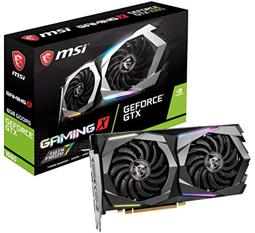 MSI Gaming GeForce GTX 1660 128-Bit HDMI/DP 6GB GDRR5 HDCP Support DirectX 12 Dual Fan VR Ready OC Graphics Card (GTX 1660 Gaming X 6G) ()