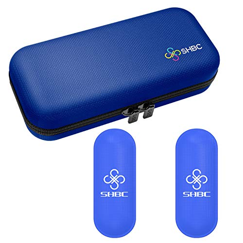 SHBC Insulin Cooler Travel Case for Diabetic Organize Medication Insulated Cooling Bag with 2 Ice Packs Blue ()