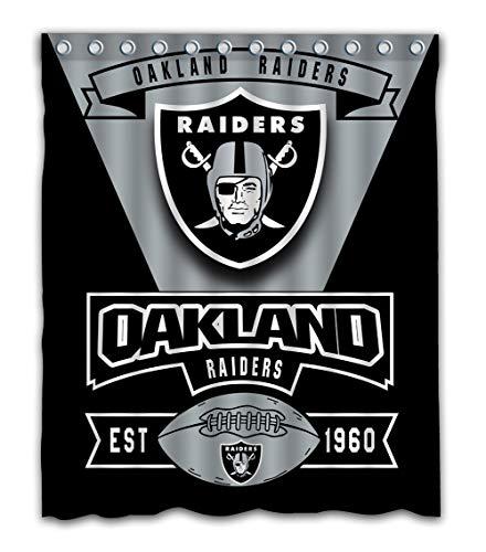 Weckim Custom Oakland Football Team Waterproof Fabric Shower Curtain Colorful De