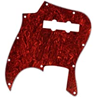 Red Tortoise Shell Pickguard 3 Ply For Jazz