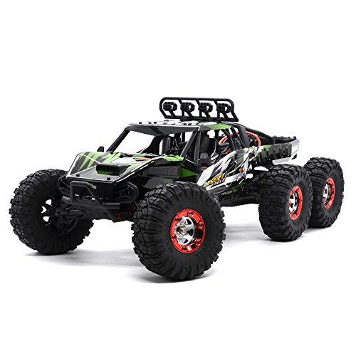 KELIWOW 1/12 6WD Brushless Electric Waterproof RC Truck 2.4GHz Remote Control 38+MPH High Speed Off Road Desert Buggy RTR with 3000mAh Battery and Backpack (KW-C06 (Crawler Brushless System)
