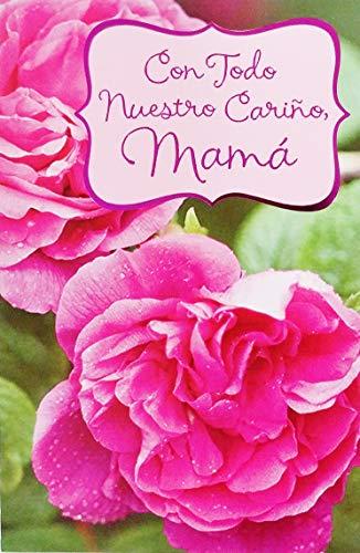 - Con Todo Nuestro Carino Mama - Feliz Cumpleanos Happy Birthday Greeting Card to Mom Mother in Spanish Espanol Madre -