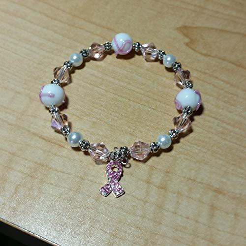 - Breast Cancer Awareness Handmade beaded Bracelet