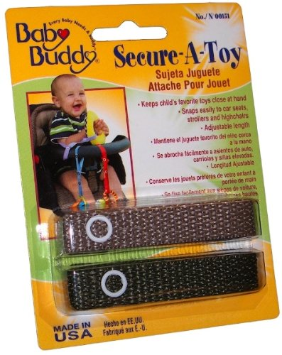 Baby Buddy Secure-A-Toy 2ct Tan-Olive - Case of 24 by Baby Buddy