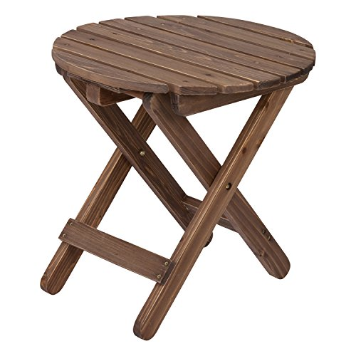 Table Round Cedar Rustic - Shine Company Rustic Round Folding Table, Rustic Wine