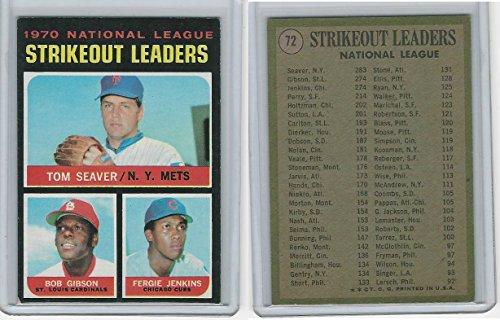 1971 Topps Baseball, 72 Leaders,Tom Seaver, Bob Gibson