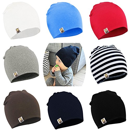 BQUBO Unisex Baby Beanie Hat Infant Baby Soft Cute Knit Cap Nursery Beanie
