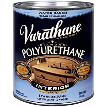 Varathane 200241H 1 Qt Satin Intr Water-Based Diamond Polyurethane Finish®