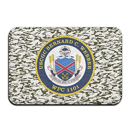 Ynghbgh Mats USCGC Bernard C Webber (WPC 1101) Doormats Bathroom Rugs for Indoor Outerdoor Bathroom