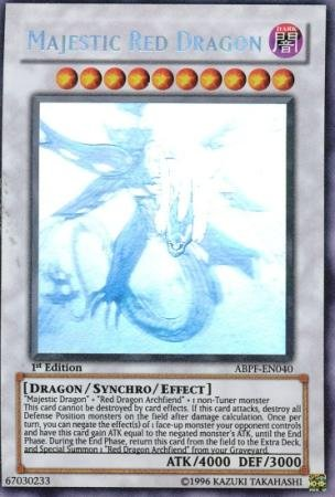 Yu-Gi-Oh! - Majestic Red Dragon (ABPF-EN040) - Absolute Powerforce - Unlimited Edition - Ghost (Single Card Ghost)