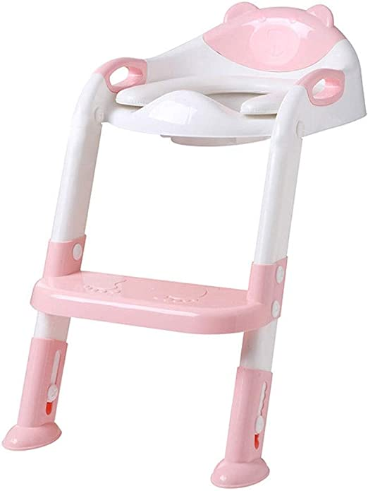 Orinal de Viaje Niño del tocador Escalera Presidente de la niña Muchacho del niño del asiento de tocador Plataforma cubierta del bebé Lavadora Escalera entrenamiento insignificante del inodoro con el: Amazon.es: Jardín
