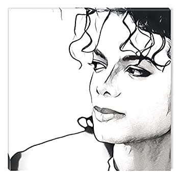 Startonight canvas wall art black and white abstract michael jackson celebrity prisma dual view surprise