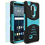 LG G Stylo / G4 Stylus / LS770 / H631 / MS631 Case, INNOVAA Turbulent Armor Case (Not Compatible with LG G4) W/ Free Screen Protector & Stylus Pen - Teal/Black