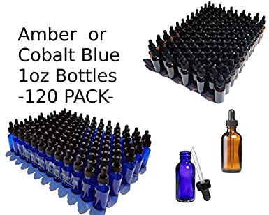 Amazon.com: Botellas de cristal de color azul cobalto y ...